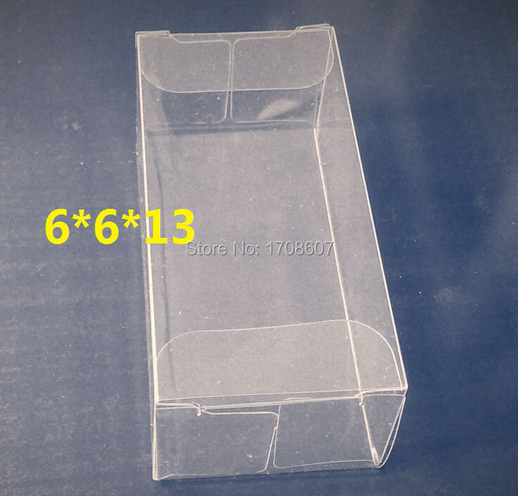 Free Shipping Size 6*6*13cm cosmetic pvc pet custom clear plastic box Wholesale(China (Mainland))