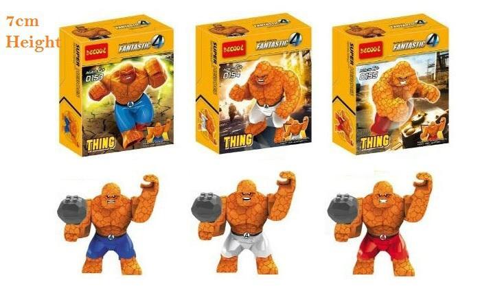 Decool 10Lot 0153 0155 Building Blocks Super Heroes Minifigures 7CM The Thing font b figures b
