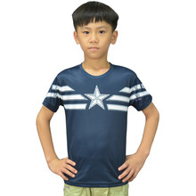 Children Unique Marvel Captain America T Shirts Super Hero Design Kids Top T Shirt Ringer Captain America Boys T-shirts Captain