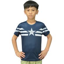 Children Unique Marvel Captain America T Shirts Super Hero Design Kids Top T Shirt Ringer Captain America Boys T-shirts Captain