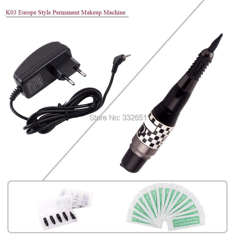 K03 Black Professional Tattoo Machines Permanent makeup eyebrows pen cosmetic Machine Complete Tattoo Machine kits