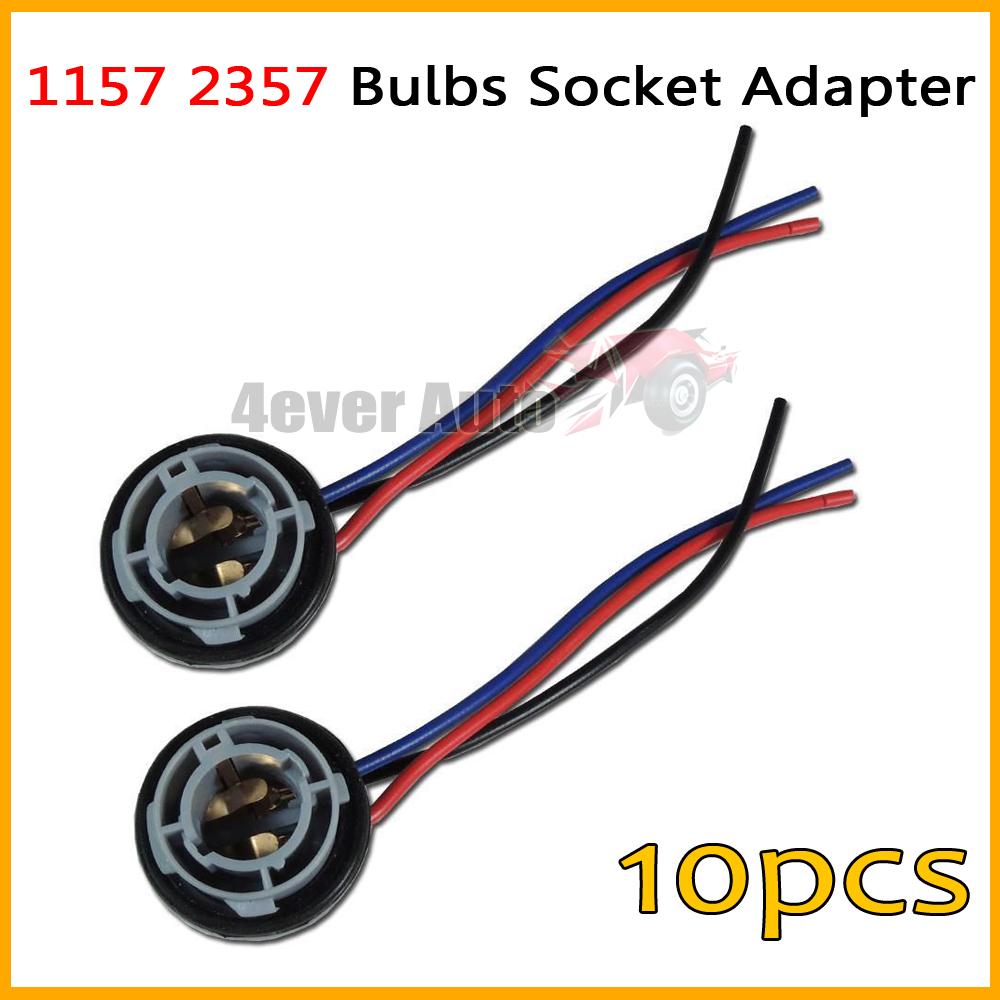 10pcs 1157 2057 2357 7528 1157A BA15D 2357A 2397 BA15D LED Bulb Backup Light Turn Signal Light Socket Harness Plug Adapter Base(China (Mainland))