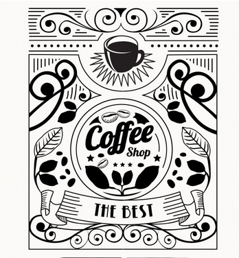 Coffee Shop Vinyl Wall Decal Shop Coffee Cup Flower Design Coffee Shop Lettering PVC Wall Sticker Cafe Bar Kitchen Decoration(China (Mainland))