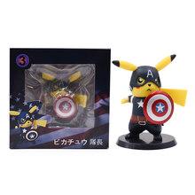 2019 Nova Sorte E Chuvoso Pikachu Cosplay Batman Deadpool Darth Vader Naruto Kakashi PVC Action Figure Boneca Coleção Toy Modelo(China)