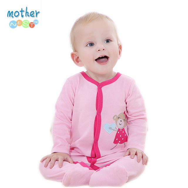 100% хлопокребенок детский комбинезон Одежда Похожие Картеры Romper младенца Bodysuit Подпись Дешевые Длинные рукава одежды roupas де Бебе