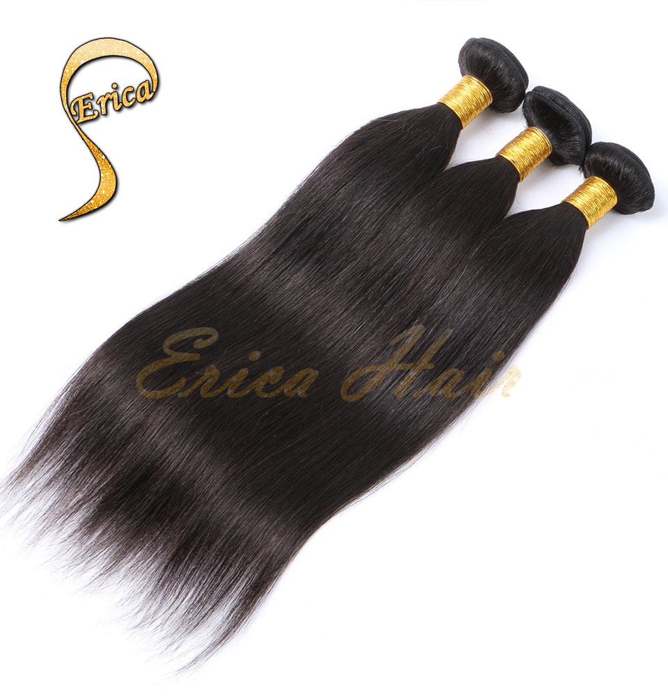 Queen Hair Products 4 Pcs Brazilian Virgin Hair Straight 4 Bundles/Lot 7A Grade Unprocessed Brazilian Straight Hair Weave Bundle