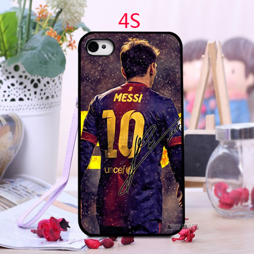 Luxury Print Custom Messi Popular Barcelona Soccer Futsal FC Unique Best Durable PC Phone Cases for iPhone 4 4s 5 5s 5c 6 6 Plus(China (Mainland))