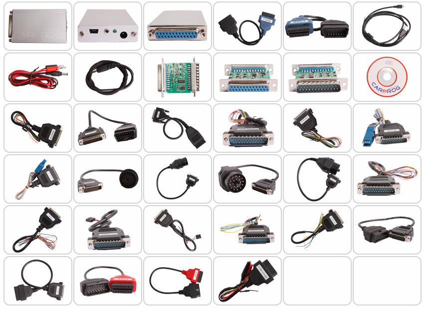 Купить Новый Автомобиль прог Carprog V9.31 Полный 21 Адаптер Профессиональный Carprog ЭКЮ Программист Auto Repair Airbag Reset Инструменты лучшая цена