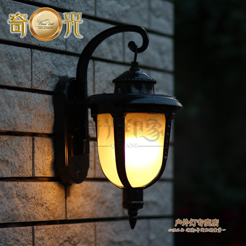 European Style Waterproof Wall Lamp Outdoor Wall Light With Iron For Garden Led Wall Light outdoor Lighting Fixture(China (Mainland))