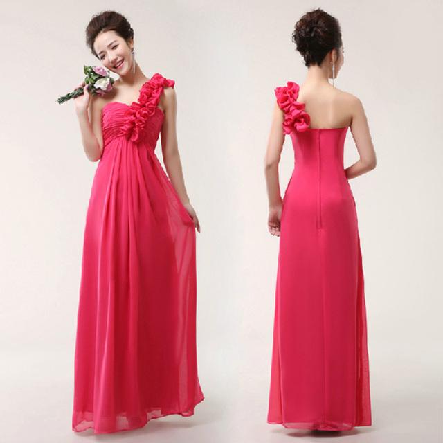 Новый 2016 невесты долго дизайн ЖилетIdos лонго цветок принцесса женский одно плечо ...