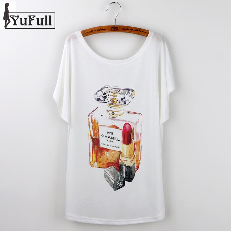 2016 Harajuku Tee Shirt Femme Fashion Brand Summer Tops Short Sleeve Perfume Bottle Print Women Tshirts Hip Hop T Shirt White(China (Mainland))