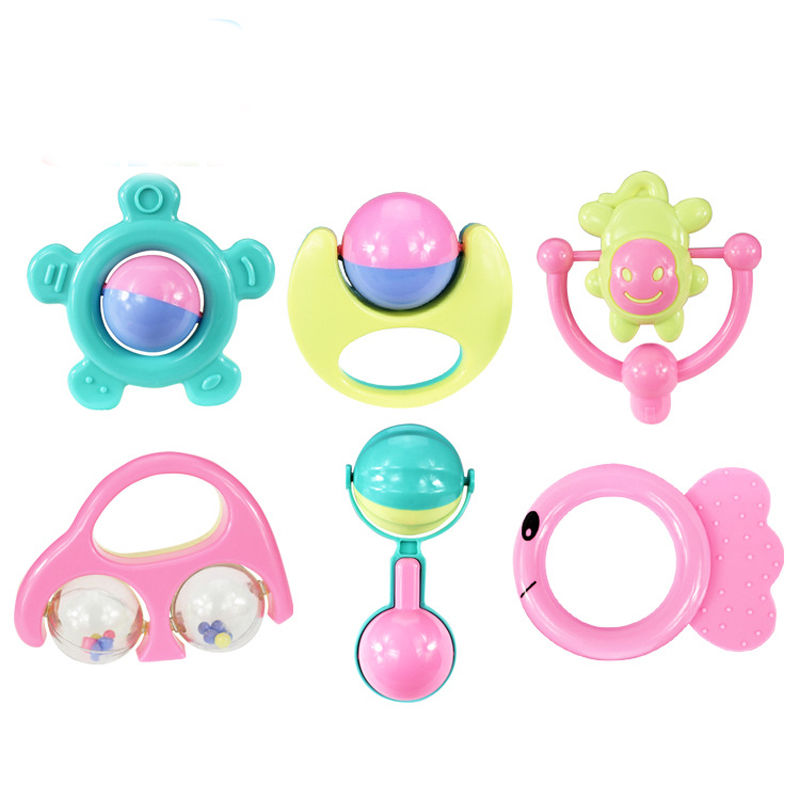 6Pcs Early Childhood Educational Hand Bell Baby Toys Gift Box