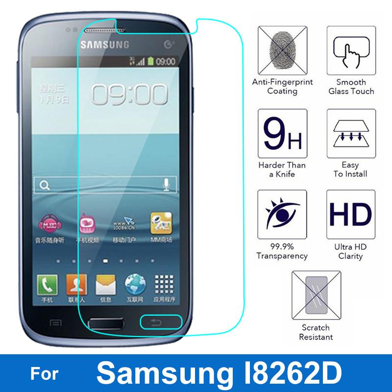 0.26mm Ultra Thin Screen Protector Nano Coating Tempered Glass Film For Samsung Galaxy Style Duos I8262 Core I8260 I8262D I829(China (Mainland))