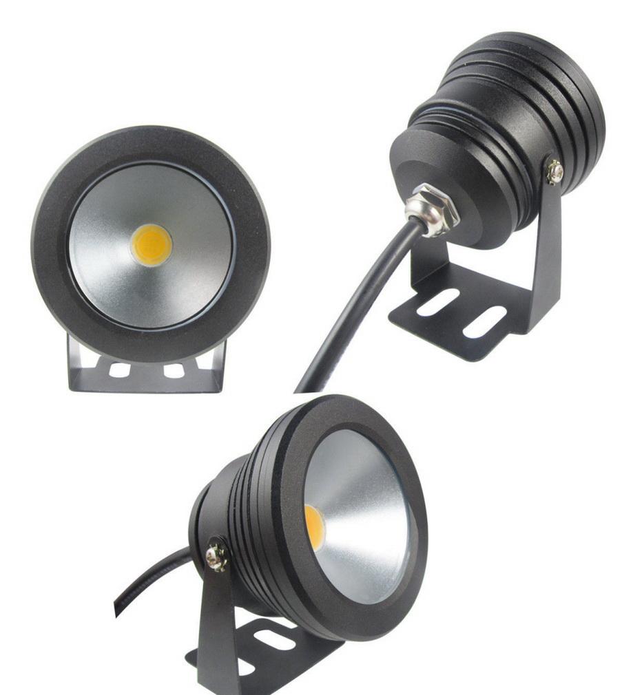 1pcs Black Color Case 10W Underwater LED Flood Wash Pool Waterproof Light Spo
