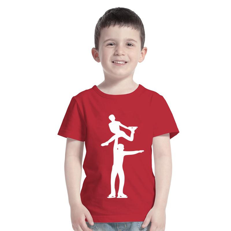 Figure Skating Couple Design Kids Shirts High Quality Printing(China (Mainland))