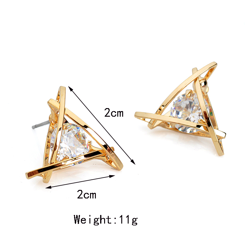 Dc6 w european luxury austrian crystal zircon gold for High end gifts for women