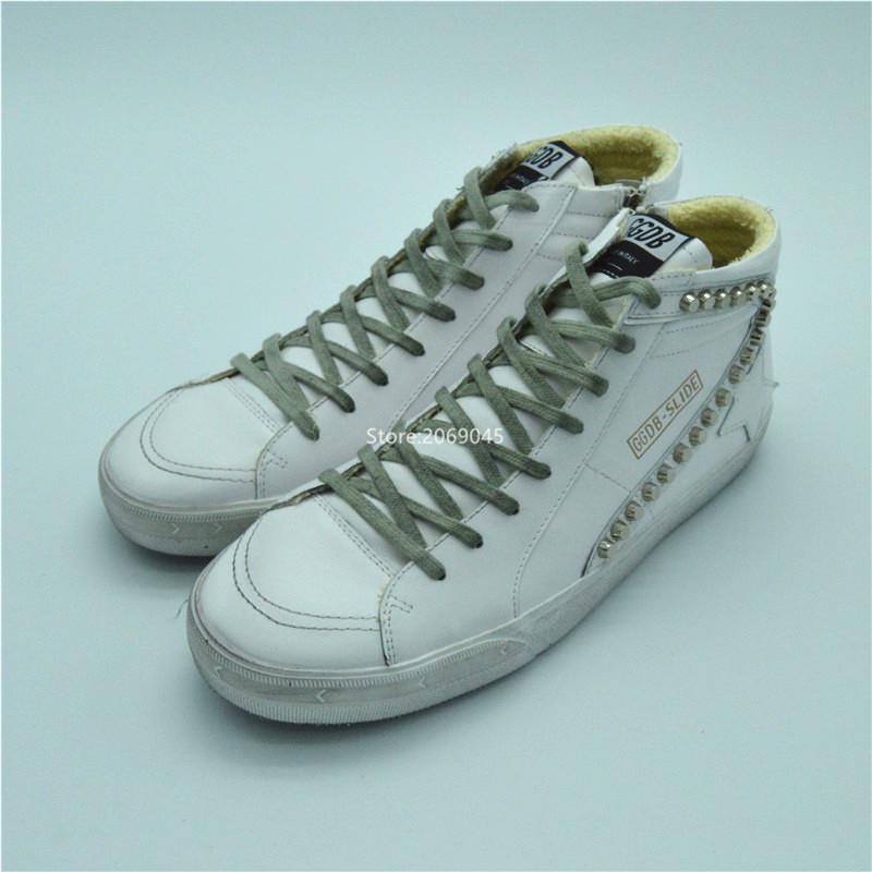 2016 Italian Deluxe Brand Golden Goose Casual Shoes Women GGDB Superstar High top White Men Shoes Scarpe Uomo Sportive hogan scarpe uomo