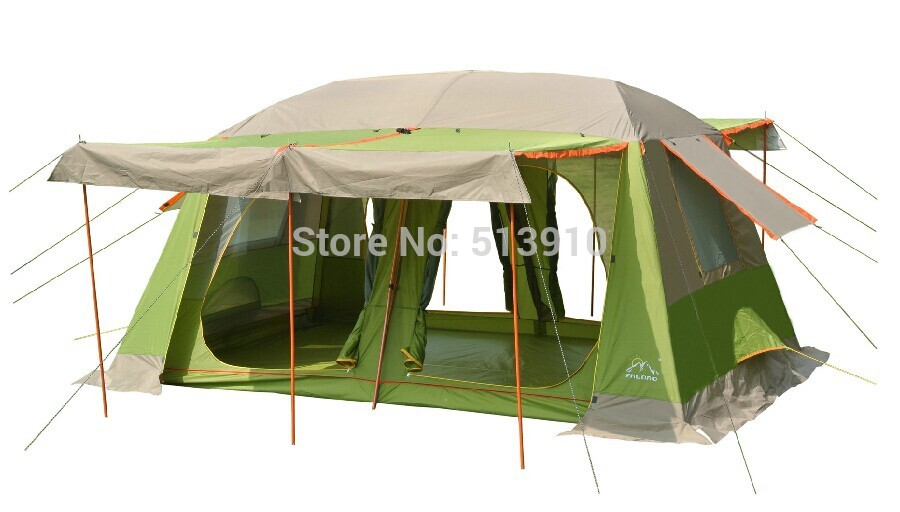 Upgrade pattern!8-10persons 2rooms Super large &amp; super value family outdoor camping tent/party tent<br><br>Aliexpress