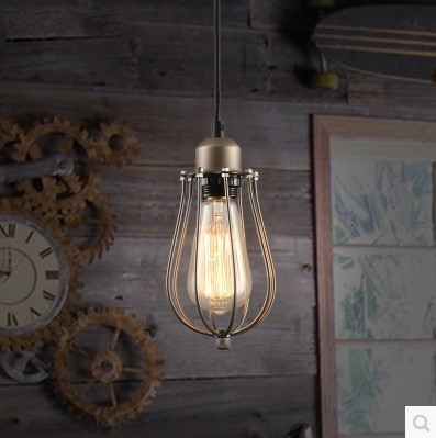 60w edison vintage lamp industrial pendant light fixtures american country loft stylependentes luz american country loft style