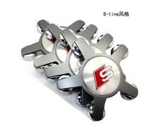 4pcs Auid 135mm Grey Car Logo Wheel Center Caps Emblem Auto Wheel Cover Hub Wheel Trim Cap Hubcap Badges Sticker For auid s line(China (Mainland))