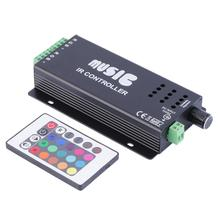 2016 Real Sale Ce Rohs 144w Ir Sound Sensor Music Remote Controller For 3528 5050 Rgb Led Strip Light(China (Mainland))