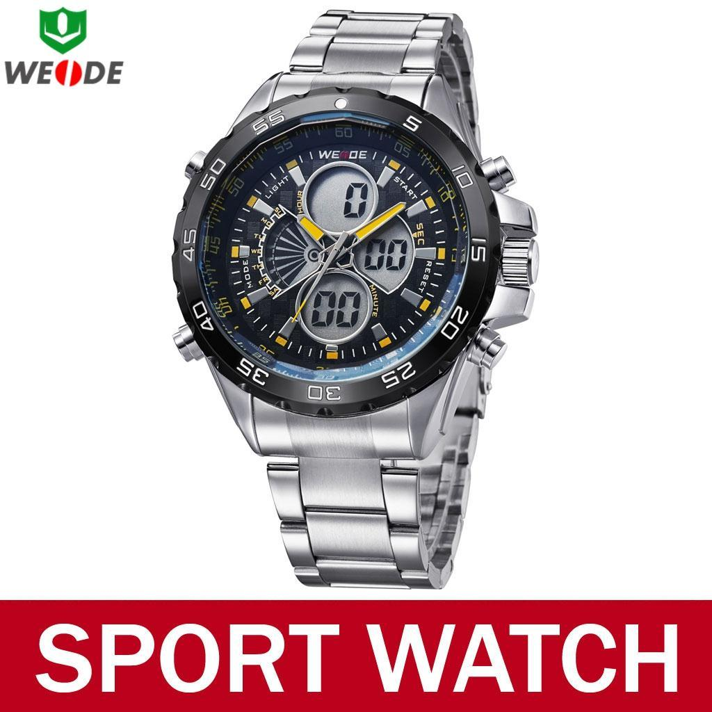 2015 New Famous Brand Men Military Sport Watch 3 ATM Waterproof Quartz Analog LCD Digital Display Wristwatch Relojes De Marca - Atolla Global Flagship Store store