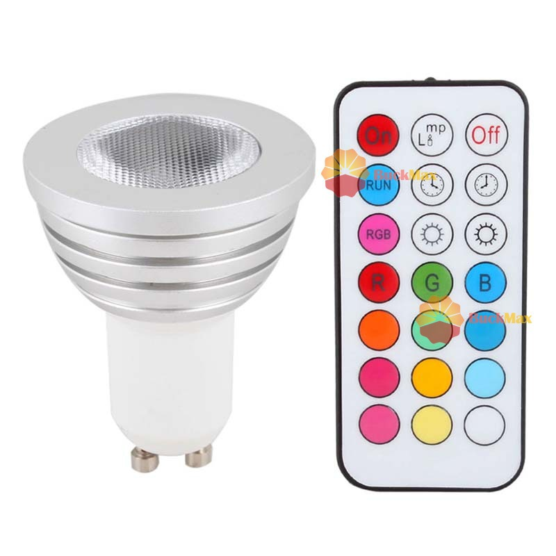 buckmax Top grade High Power Multi Color Change 5W GU10 RGB LED Light Bulb Lamp Remote Control #13 Only you(China (Mainland))