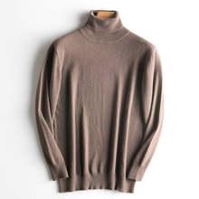 뜨거운 판매 겨울 스웨터 남자 100% 캐시미어와 양모 뜨개질 점퍼 새로운 도착 12 색 따뜻한 풀오버 남성 표준 양모 탑스(China)
