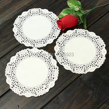 "10pcs/Pack 5.5"" White Round Lace Paper Doilies Decoration Craft Cake Wedding Party Pad(China (Mainland))"