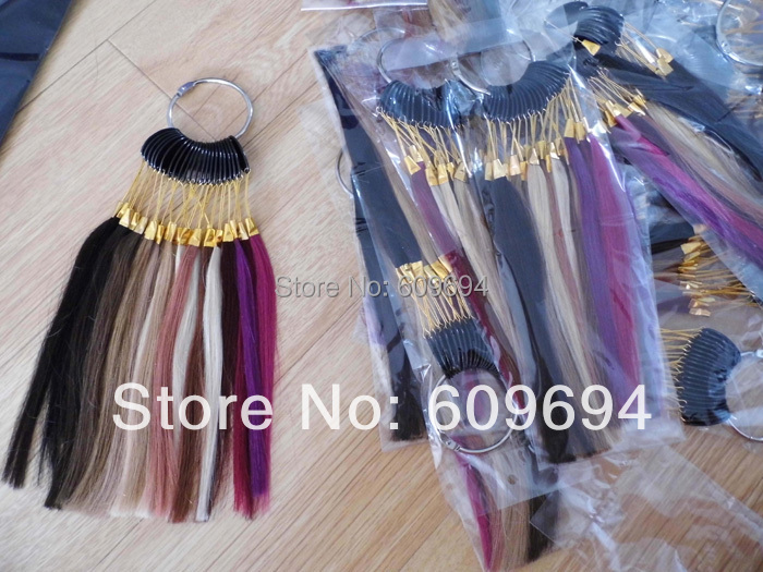 human hair COLOR RING / COLOR CHART for human hair extensions(China (Mainland))