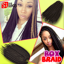 "Pretwist 3s BOX Braids 12'' 18"" 22"" Synthetic crochet box braids hair extension High quality twist style braids for black woman(China (Mainland))"