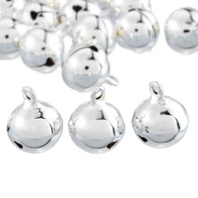 Hoomall 20PCs Silver Jingle Bells Pendants Hanging Christmas Tree Ornaments Christmas Decorations DIY Crafts Accessories(China (Mainland))