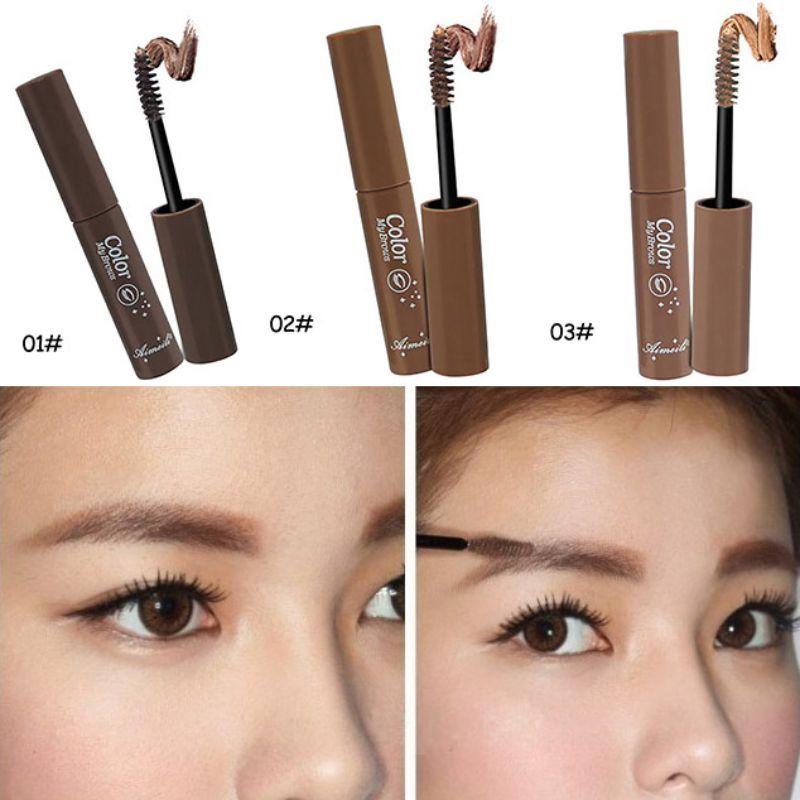 3 Colors Mask Stylenanda My Brown Natural Eyebrow Dye Cream Makeup Brush Waterproof Durable Eyebrow Enhancer New(China (Mainland))
