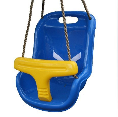 Free Shipping Blue Baby Swing Swing Set Strong Plastic