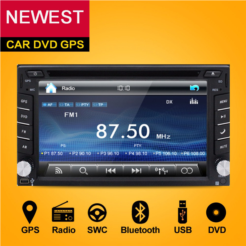 2 Din Car DVD Player Monitor Universal Car Radio GPS Auto 3G USB BT IPOD FM RDS In Dash Car PC Stereo video Audio Camera For VW(China (Mainland))