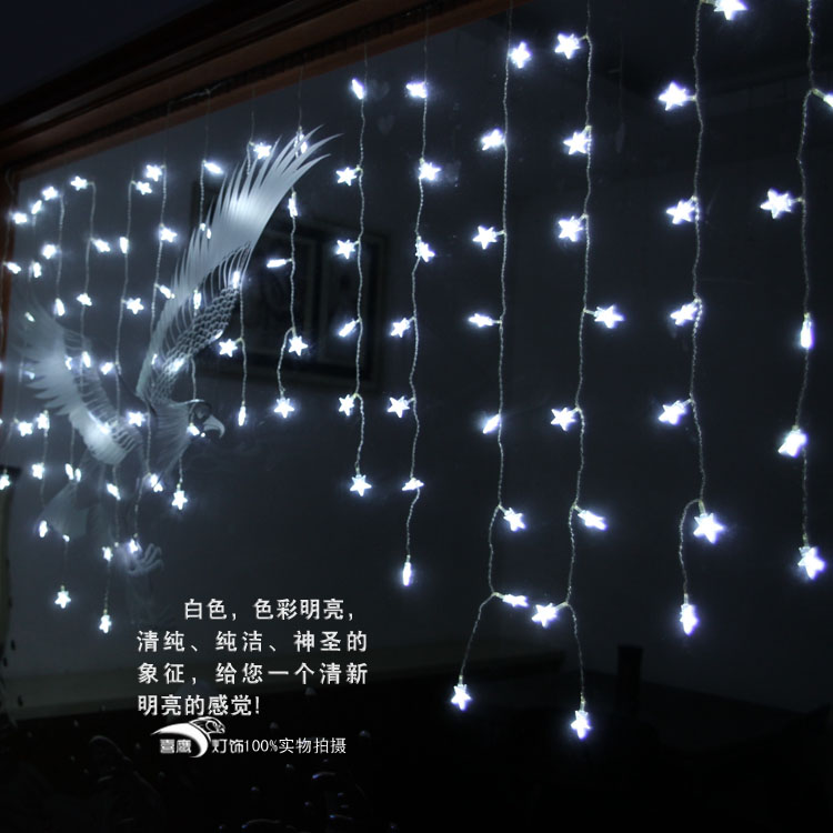 Supplies christmas accessories toy decoration supplies 104 small five-pointed star led lights(China (Mainland))