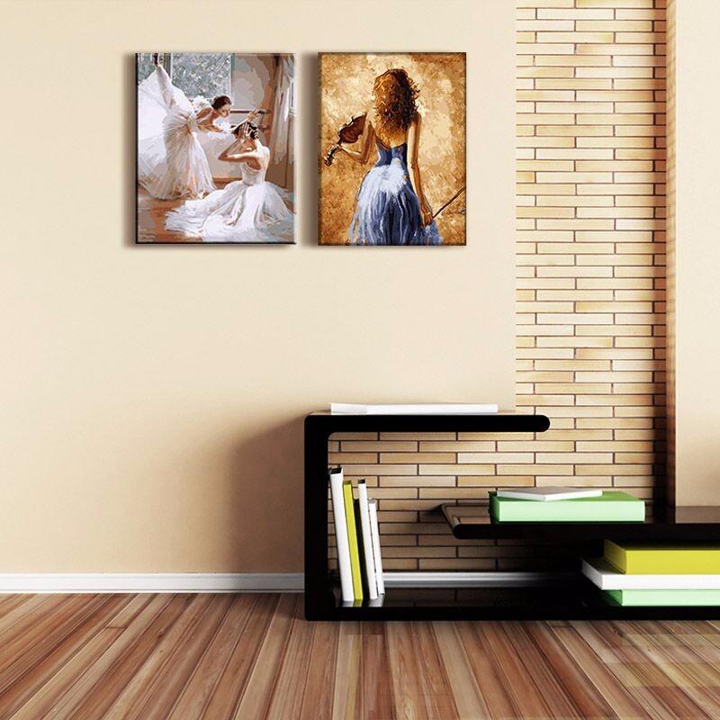 Frameless picture diy new arrival diy digital oil painting for Diy frameless picture frames
