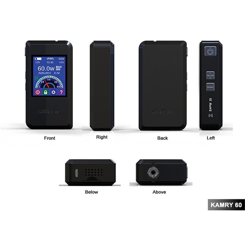 ถูก บุหรี่อิเล็กทรอนิกส์Vaporizerกล่องVapeสมัยKamry 60สมัยแบตเตอรี่สำหรับไอพายุEC 1ถังฉีดน้ำ7-60วัตต์บุหรี่อิเล็กทรอนิกส์ชุดX1060