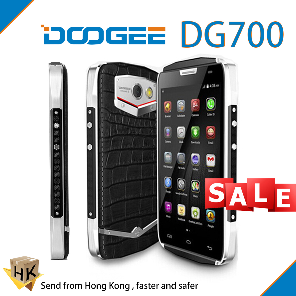 "Free Shipping Original 4.5 "" IPS Doogee TITANS2 DG700 Waterproof Cell Phone Quad Core 1GB RAM 8GB ROM 4000 mAh Android 5.0 OTG(China (Mainland))"
