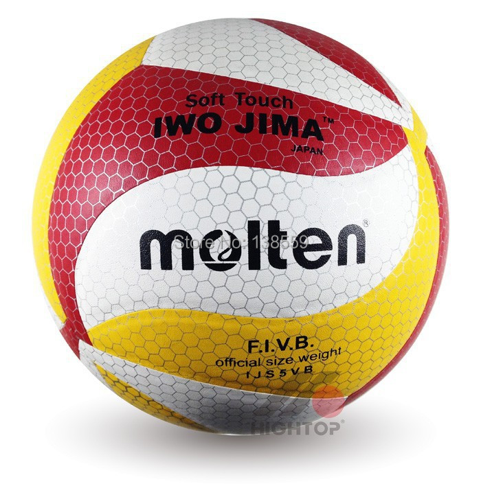 Brand New Molten Volleyball Official Size 5 18 Panels Synthetic Leather Material Match Volleyball Ball Free With Net Bag+Needle(China (Mainland))
