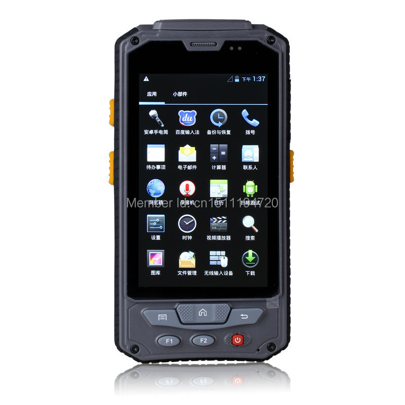 Rugged data collector, Android OS PDA supports 1D barcode scanner,HF RFID,GPRS,bluetooth and 2PSAM(China (Mainland))