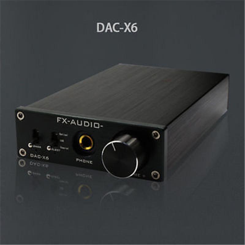 FX-Audio Feixiang DAC-X6 HiFi amp Optical/Coaxial/USB DAC Mini Home Digital Audio Decoder Amplifier 24BIT/192 12V Power Supply(China (Mainland))