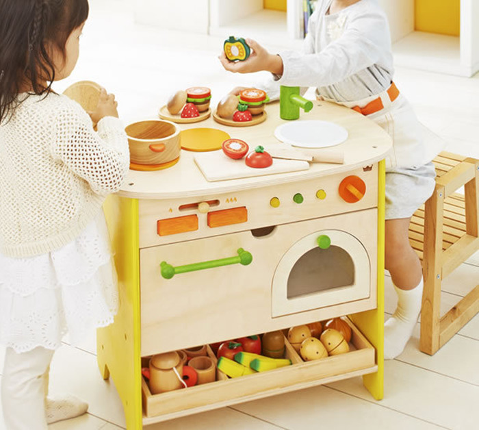 New wooden toy Wooden cabinet kitchen toy bBaby toy(China (Mainland))