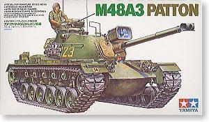Tamiya assembled Chariot Model 35120 1/35 U.S. military M48A3 Barton tank car(China (Mainland))
