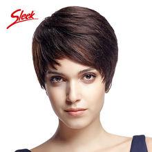 Sleek Brazilian Human Hair Wigs Perruque Cheveux Humain Short Cut Human Hair Wigs for Black Women Brazilian Lace Wig On Sale(China (Mainland))