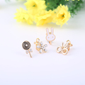 Fashion Lovely Cute rabbit flower bowknot candy earrings Lovely accessories clip earrings for women and girls