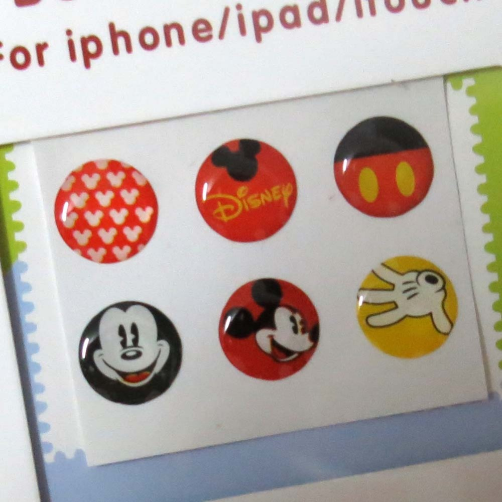 6 pcs Cute Mickey Minnie Home button sticker For iphone 4G 4S 5G 3GS ipod touch 4 touch 5 ipad