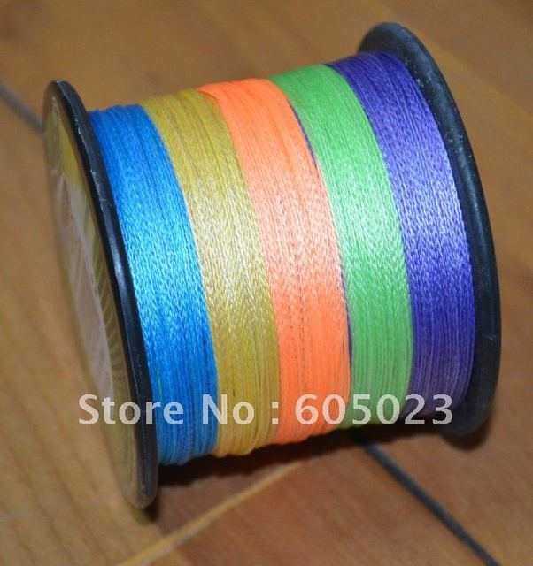 Retail packaging 1pcs 500YD 80LB 5color 100% Spectra PE Braid fishing line