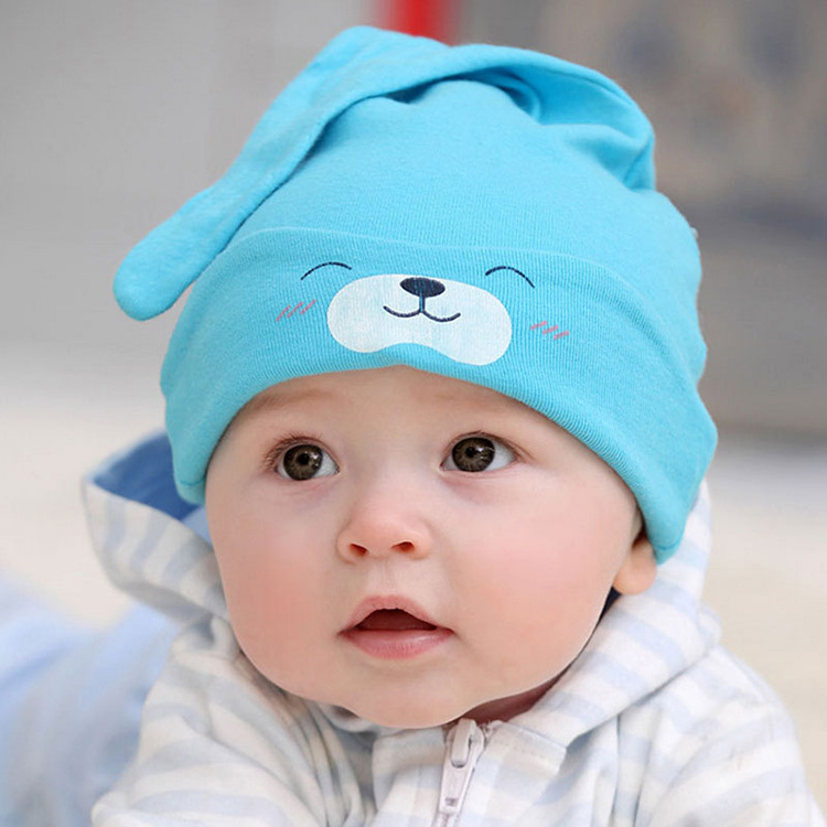 Infant sleep cap New Spring Autumn Winter Cotton Baby Hat Girl Boy Toddler Infant Kids Caps Baby Boy Hat For Girls 80#(China (Mainland))