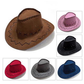 New 2015 Summer Spring Sun Hat Cowboy Hat Men and Women Outdoor Caps Fashion Chapeu Straw Cowboy 6 Colors(China (Mainland))